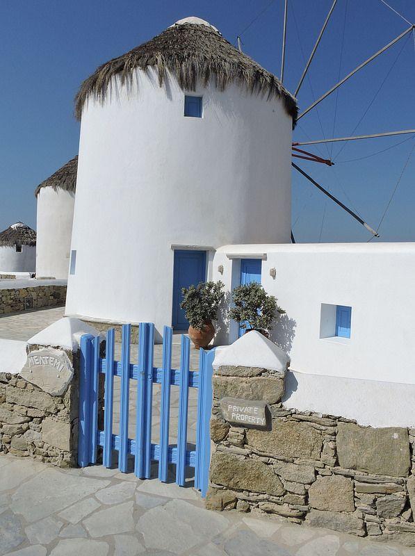 Windmills in Mykonos town, Mykonos, Greece. (Wes Albers)