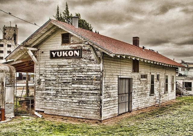 Old Train Depot Found In Yukon Ok Interesting Old