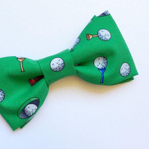 Green Golf Bow tie by FlyTiesforFlyGuys