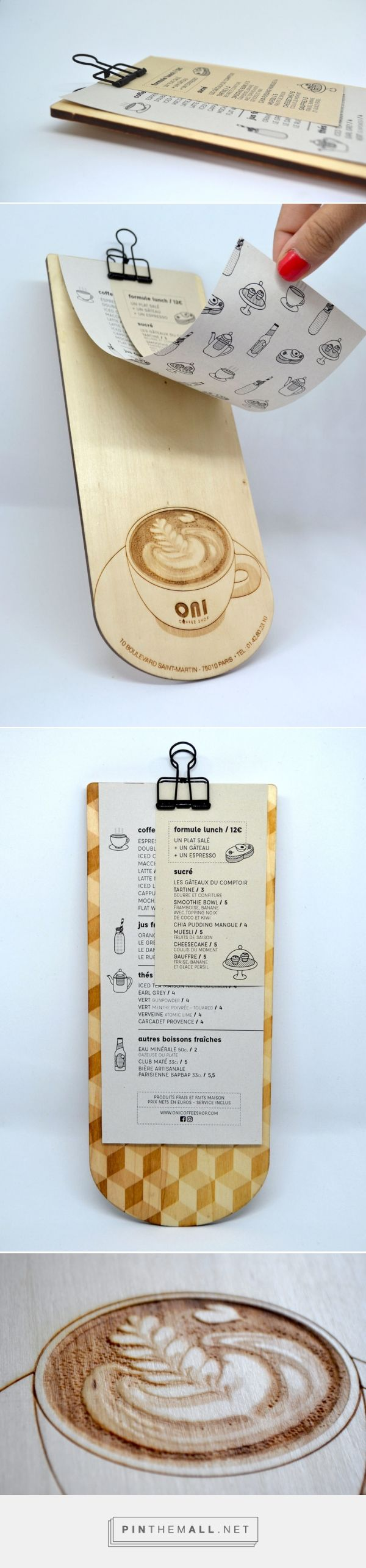 Menu design - wood - Lasercut - Wooden menu • Festin studio