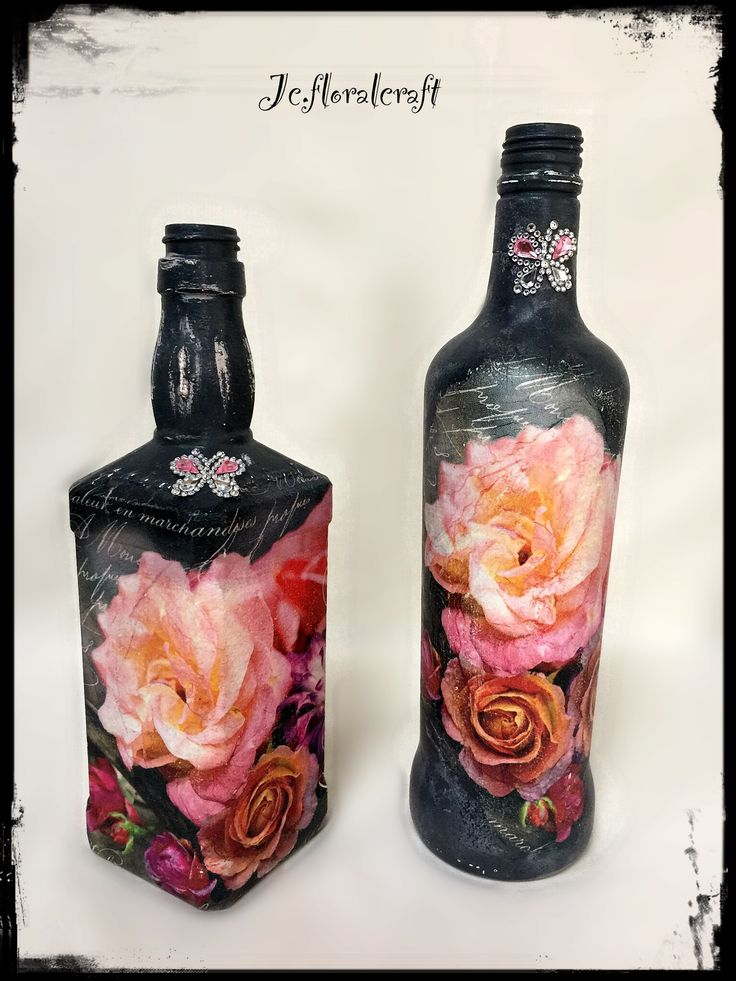 Decoupage bottles