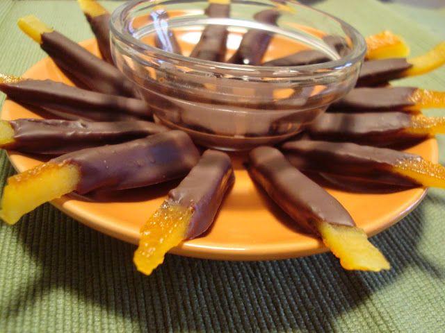 Φλούδες πορτοκαλιού με σοκολάτα(0 μονάδες)