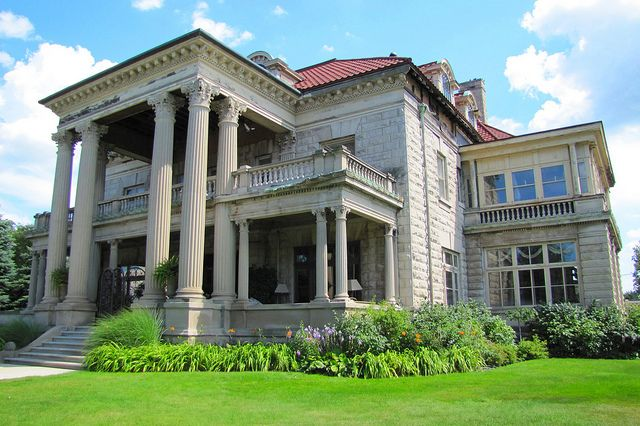 The Beiger Mansion - Mishawaka, Indiana.  Built by self made millionaires, the Beigers, in 1901 - 1907, the house is now an inn and wedding venue.