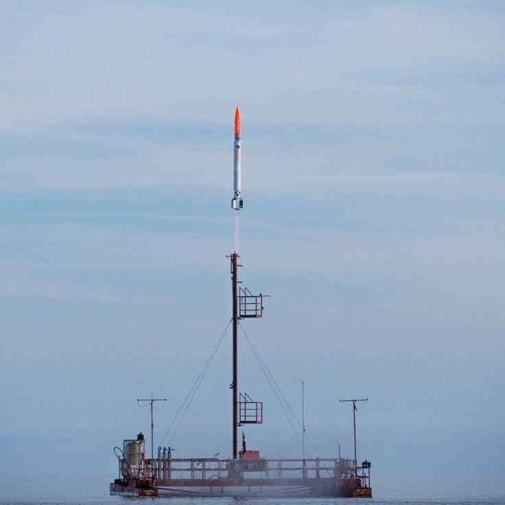 Launch of the NEXØ 1 rocket launch by Copenhagen Suborbitals.
