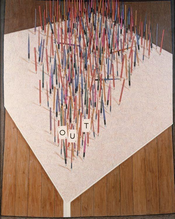 Out, (1979) by John Brack ::Australia