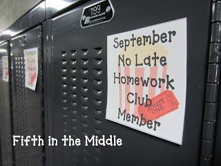 September No Late Homework Club--I could make this