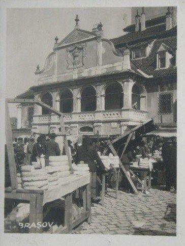 Târgul de brânzeturi în Brașov acum 100 de ani
