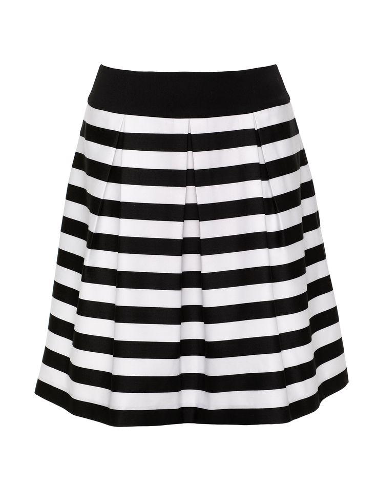 Sphere Stripe Top   Black & Cream   Stripe Skirts