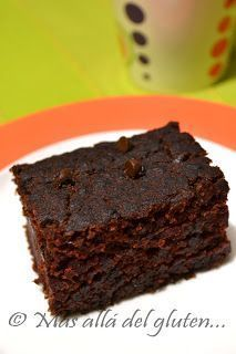 Más allá del gluten...: Brownies sin Gluten y sin Huevos (Receta GFCFSF, Vegana)