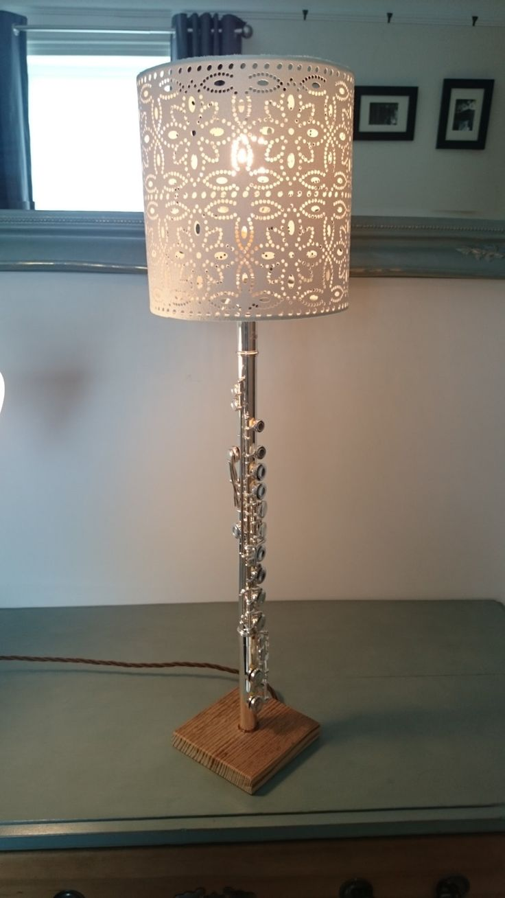 Upcycled flute table lamp by OldlandVintage on