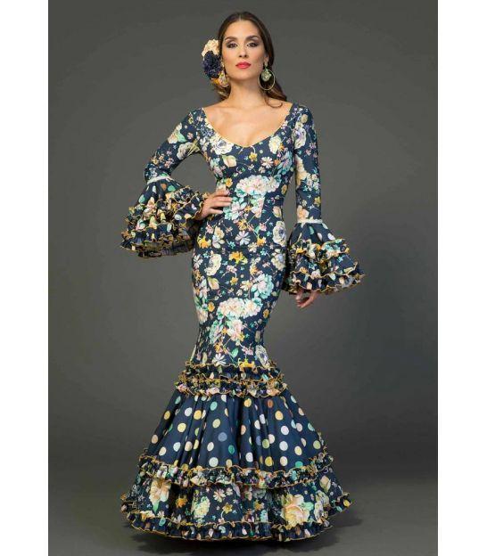 trajes de flamenca 2018 mujer - Aires de Feria - Vestido de gitana Sevilla estampado
