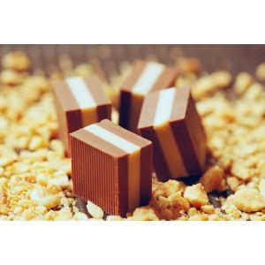 Easter Chocolate Cremino Gobino - hazelnut and cocoa butter cream lies between two Gianduja layers