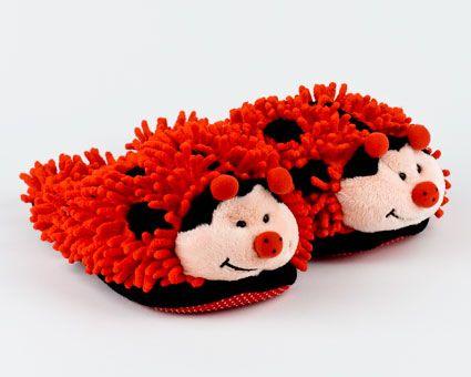 Fuzzy Ladybug Animal Slippers  - CKF