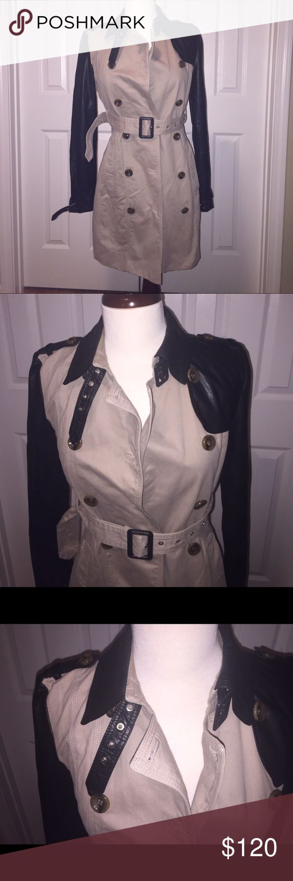 W118 by Walter Baker Trench Coat The highly sought after trench coat from Walter Baker is here! This is a wardrobe must have! Jacket is on excellent condition. All buttons and leather in tack. No flaws. Fits true to size W118 by Walter Baker Jackets & Coats Trench Coats