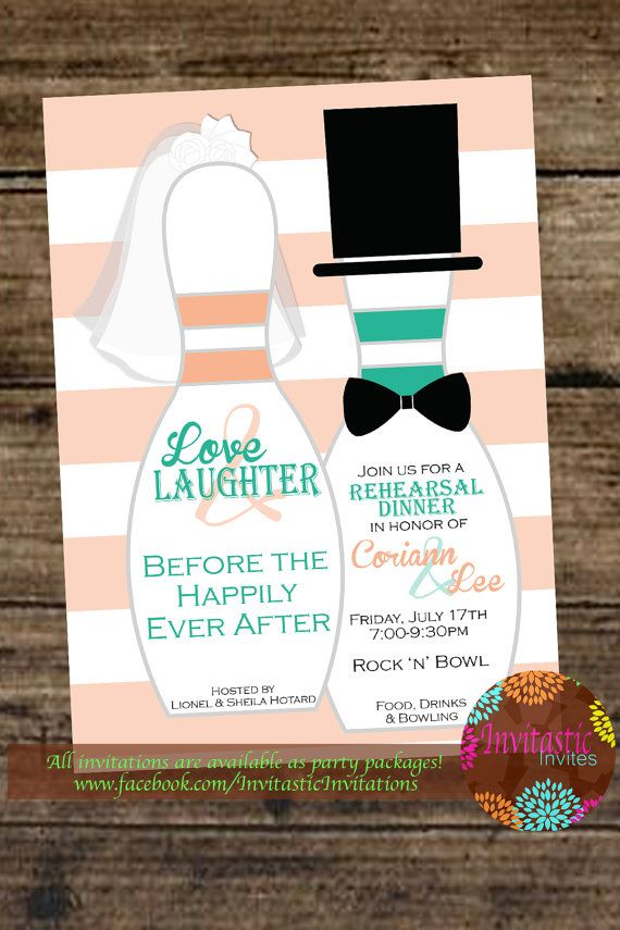 Rehearsal Dinner Invitation-Bowling Theme by InvitasticInvites