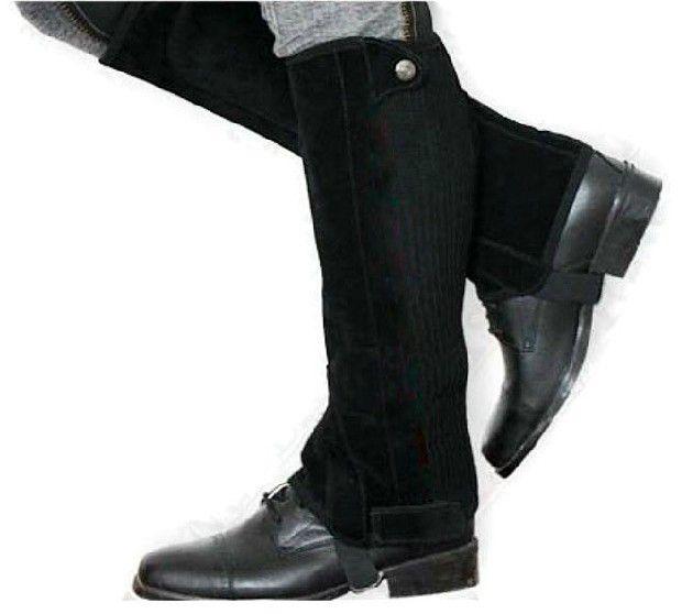 Equestrian Chaps Half Pants Sport Leg Protector Warmer Black Equestrian Supplies Horse Riding Equipment Knight Leggings