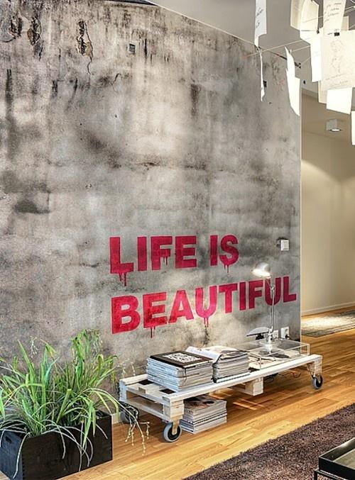 Wall art - Life is Beautiful