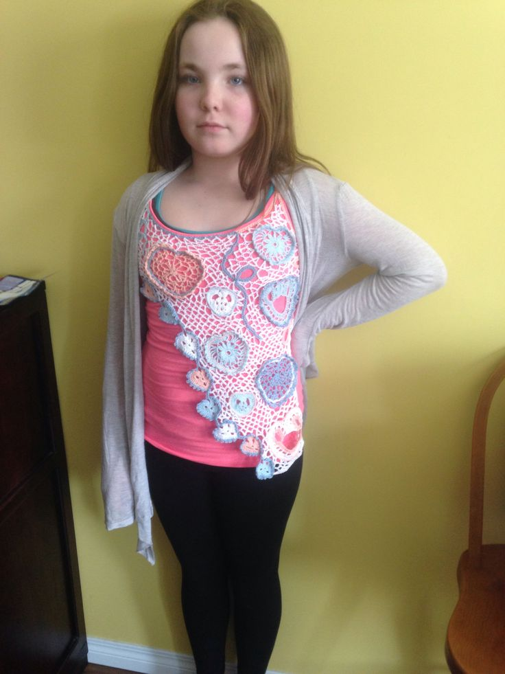 Irish lace crochet tank...all done