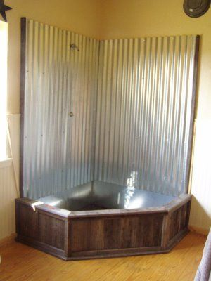 Barn Tin Shower | TURQUOISE COWGIRL: January 2009