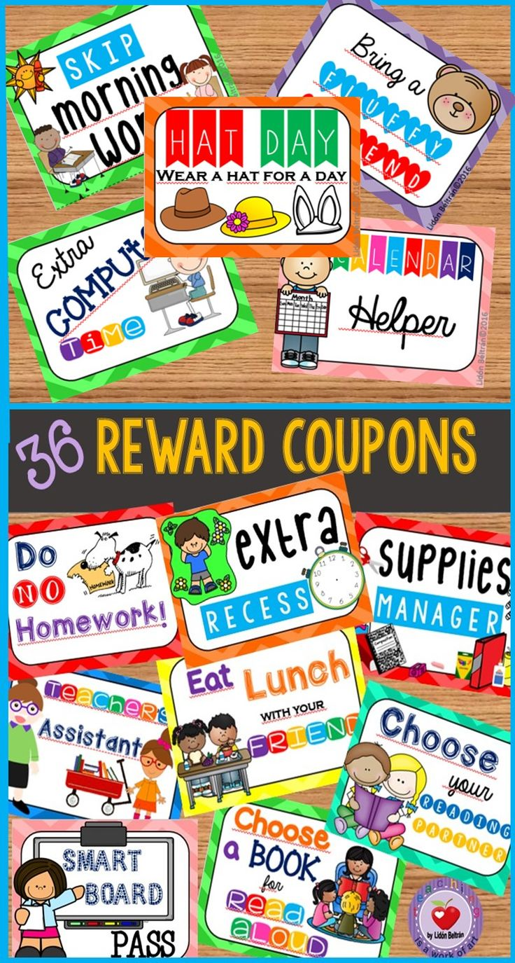 Classroom Reward Ideas Elementary ~ Best ideas about behavior coupons on pinterest