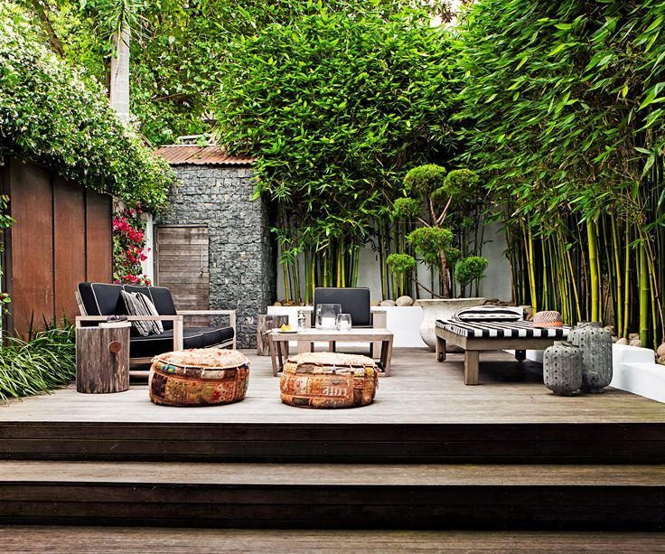 "Outdoor rooms that get the balance right:""Completely overgrown"" is how landscape designer [Anthony Wyer](http://www.anthonywyer.com/