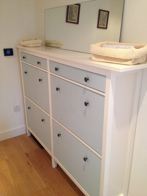 Wedded Hemnes Shoe Cabinets [Twined and Painted] | IKEA Hackers Clever ideas and hacks for your IKEA