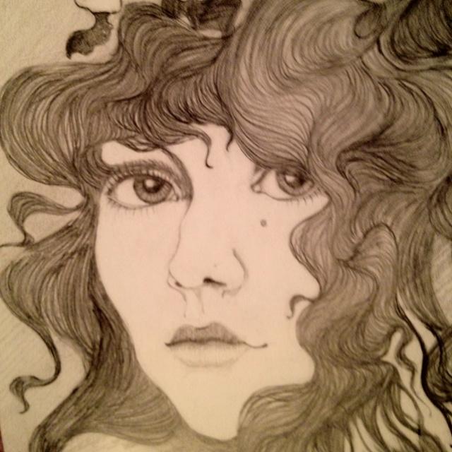 Pencil drawing I did in 1973: Artful Things, Wood Cuts, Pencil Drawings