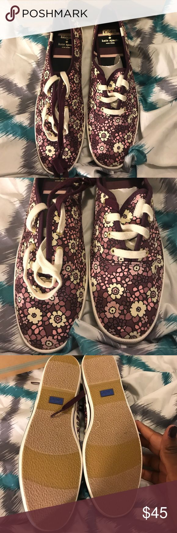 Keds for Kate Spade Floral  Shoes Keds for Kate Spade shoes. Wine floral color Keds Shoes Sneakers