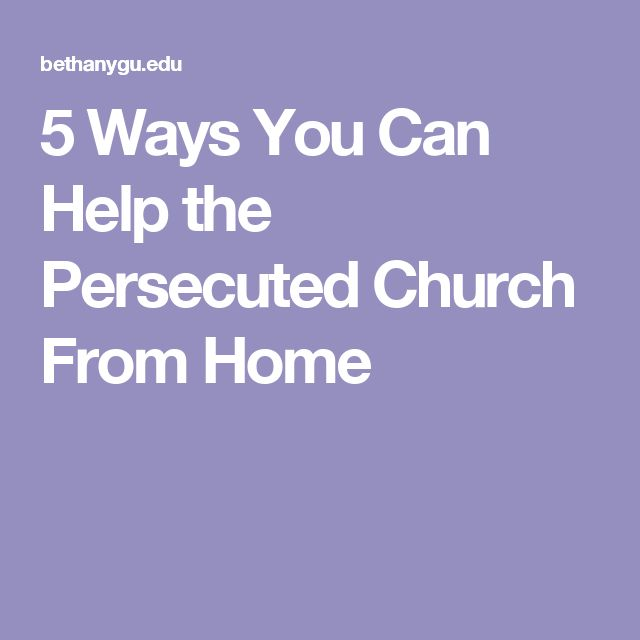 5 Ways You Can Help the Persecuted Church From Home