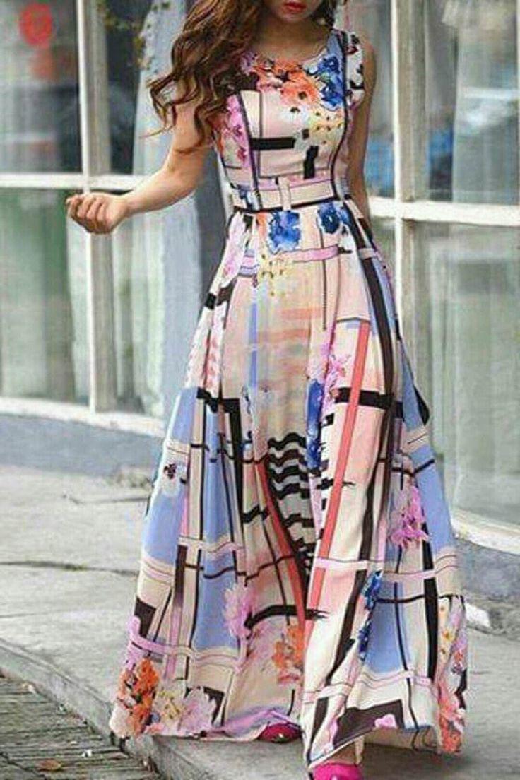 abstract geo print dress