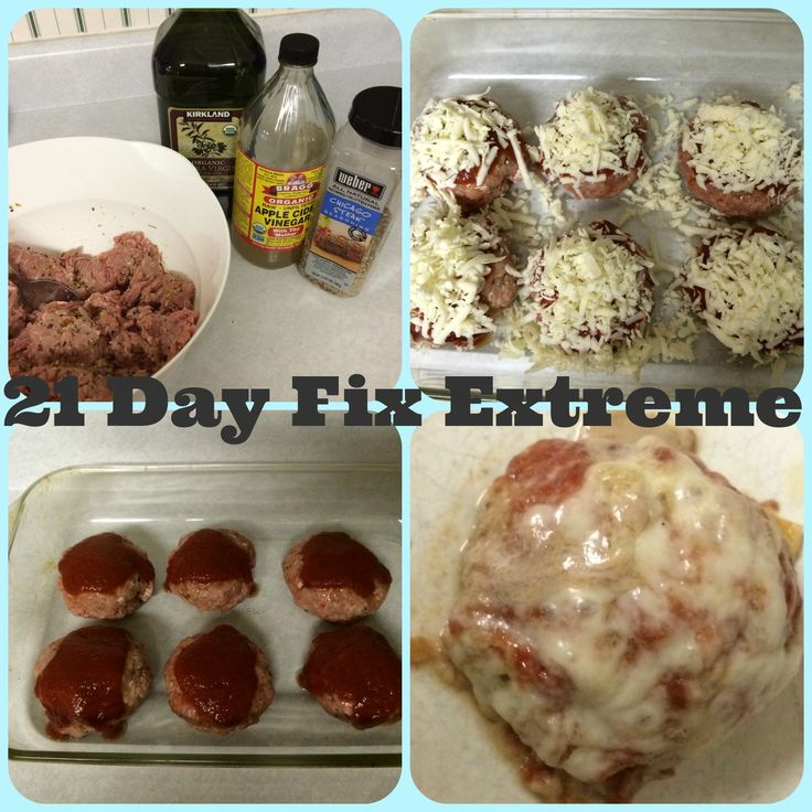 Pizza Burger, 21 Day Fix Extreme approved! 1 red, 1 blue, 1 teaspoon!