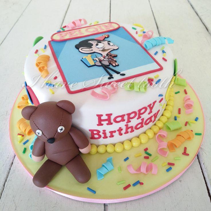 Mr Bean Theme Cake #ihavesweettooth #1stbirthday #mrbean #mrbeanteddy