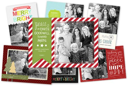 freebie card templates: Becky Higgins Holiday Cards 2012