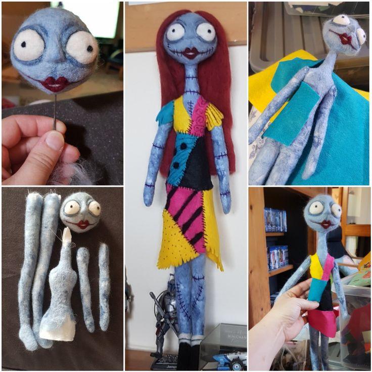 Sally, a Nightmare Before Christmas. Needle felt