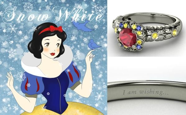 9 best images about disney rings on pinterest mulan for Snow white wedding ring