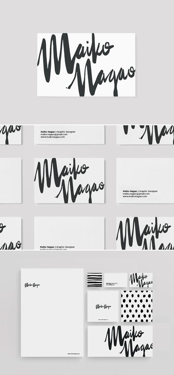 Stationary design and branding by Maiko Nagao. Graphic design for print ideas.