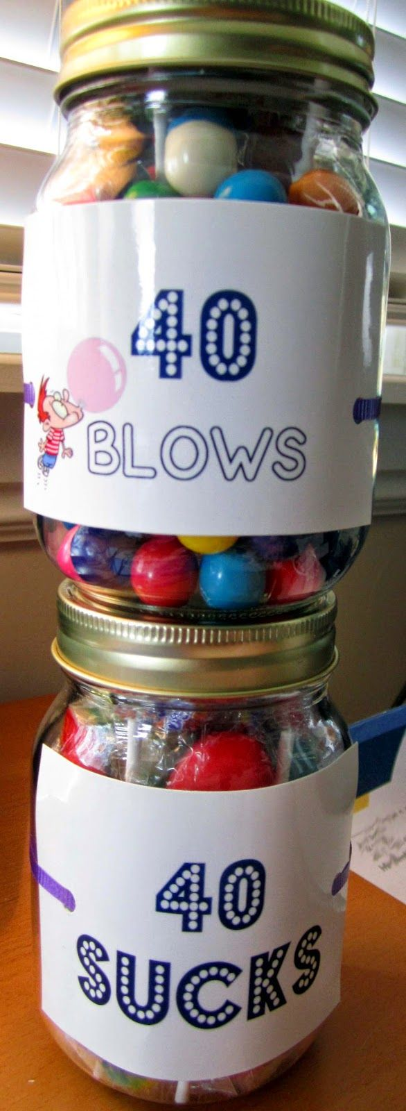 The Big 4-0! 40 Blows & 40 Sucks. Cute 40th birthday gifts! #40thbirthday #40th