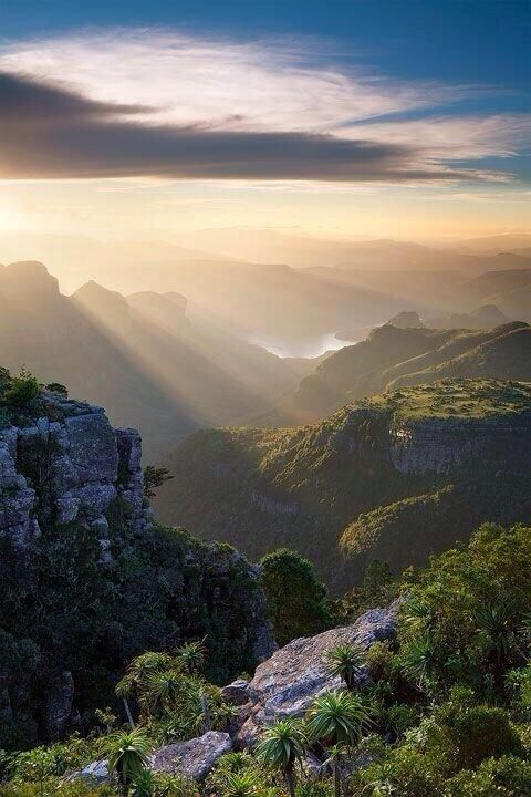 The Blyde River Canyon.