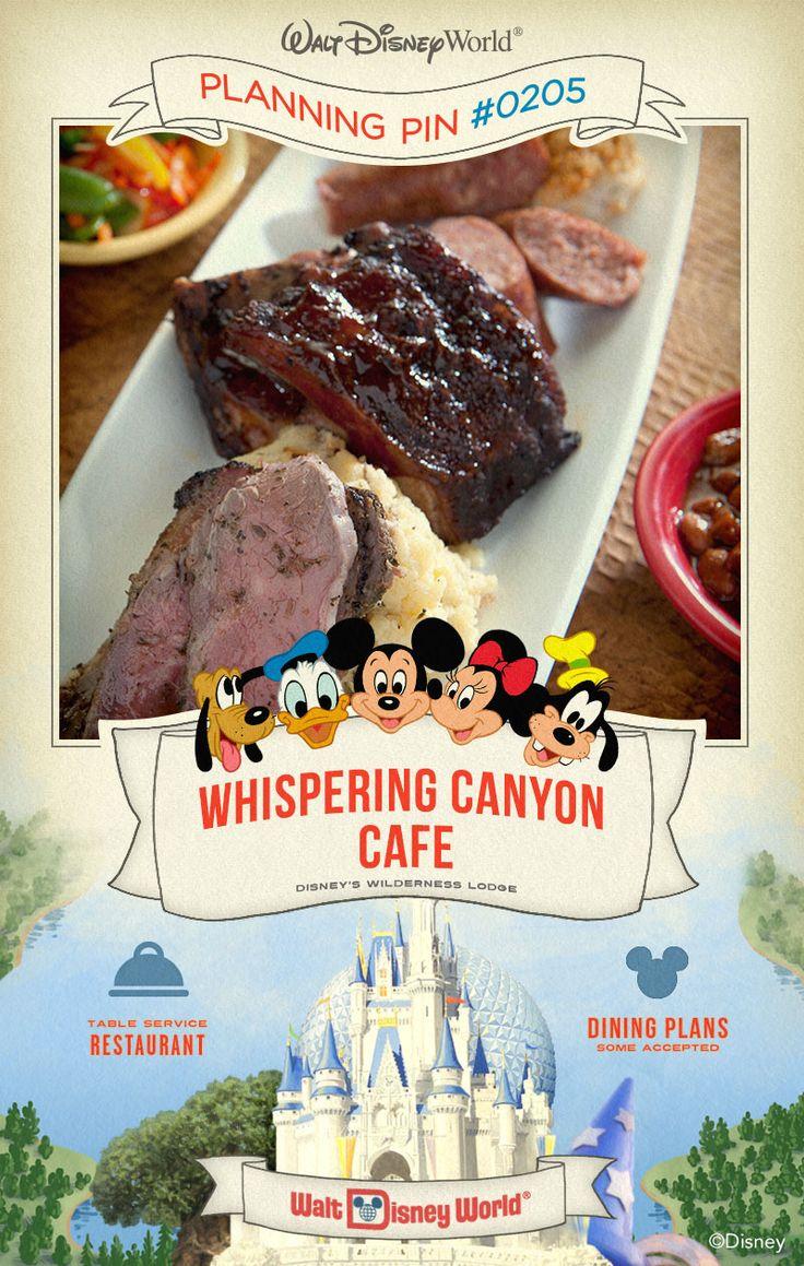 Walt Disney World Planning Pins: Whispering Canyon Cafe