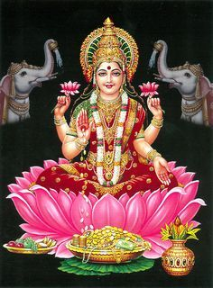 Lakshmi, Goddess of Beauty, Wealth and Prosperity.  Om Sri Maha Lakshmye Namaha*~~~