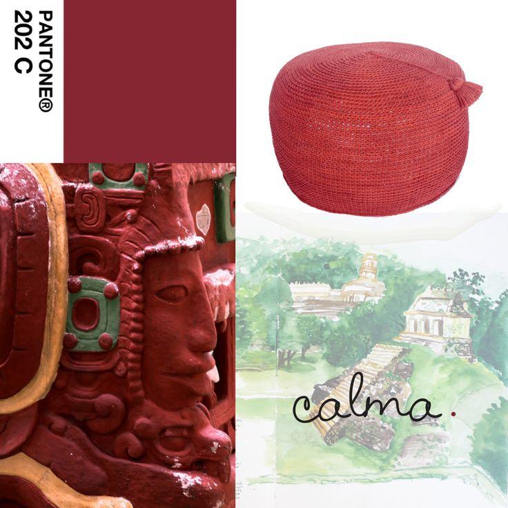 Los colores tierra de la Cultura #Maya en tu hogar - #TemploRosalila #Calma. #Living #InteriorDesign #PuffNepal
