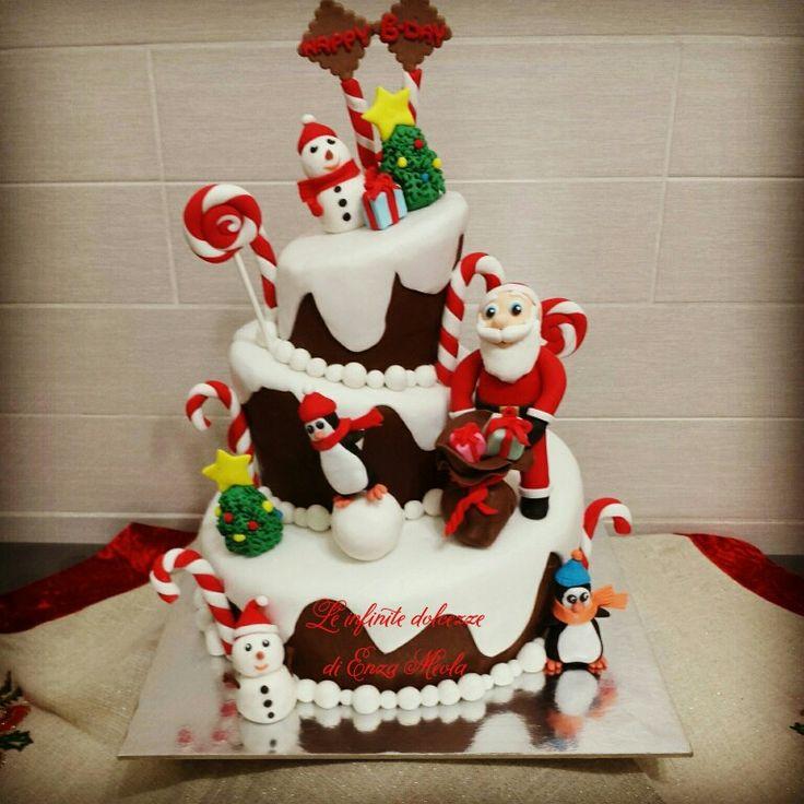 Torta wonky christmas birthday