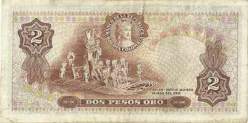 Ticket Almost New 2 Pesos 1977