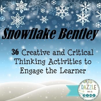 Snowflake Bentley: Snowflake Bentley by Jacqueline Briggs Martin is a wonderfully written story about a man named Wilson Bentley who came to be known as the famous Snowflake Bentley. It was Snowflake Bentley's hard work and determination that led to the world's knowledge of just how beautiful and mysterious the formation of a snowflake could be.This unit of study contains 36 creative and critical thinking activities for students in grades 2-4.