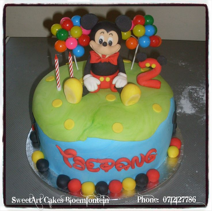 MICKEY MOUSE CAKE For more info & orders, email SweetArtBfn@gmail.com or call 0712127786. Connect with us on Facebook @ https://www.facebook.com/SweetArtCakesBfn