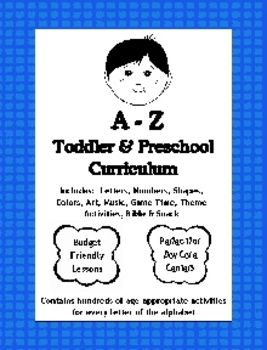 A to Z Toddler and Preschool Curriculum - for Homeschool
