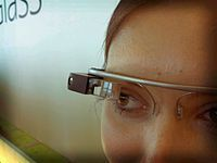 Google Glass display web info about the person you are talking to on the lense in front of your eye?  Wow!