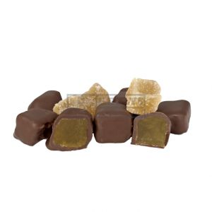 A bulk box of Kellys Milk Chocolate Ginger.