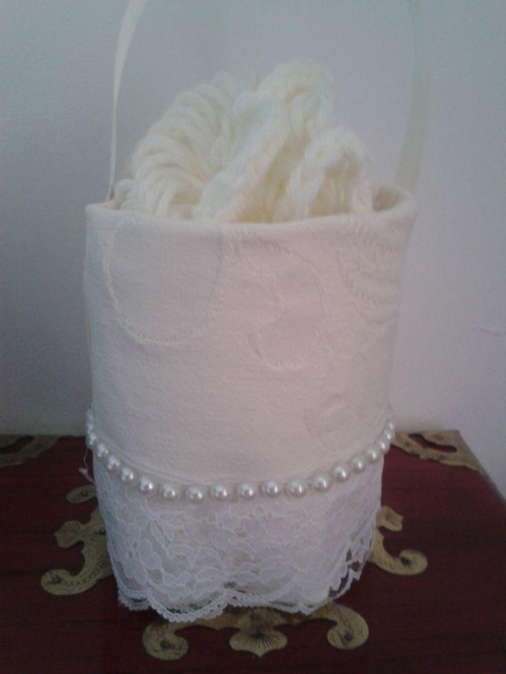 Secchiellino romantico porta riso per gli sposi, ricavato da una bottiglia in Pet