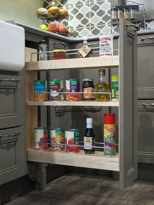 Keep your spices organized! #KBIS2015 #wellborncabinet